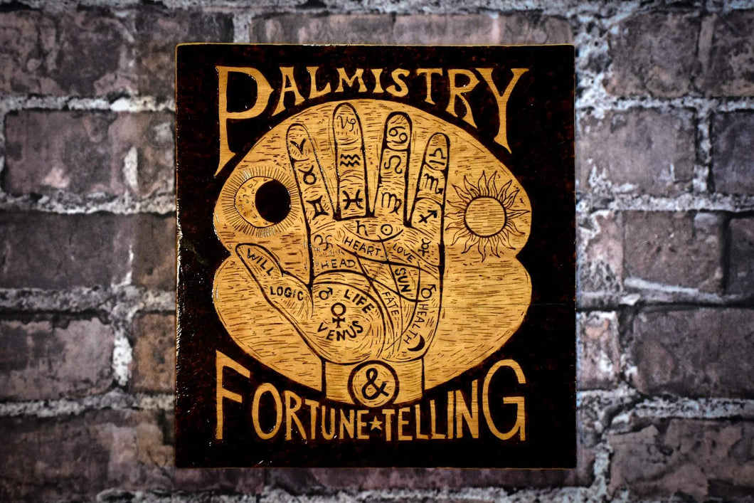 Palm Reading sign