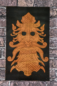 Greenman - Odin's Eye Art,  - woodburning, Odin's Eye Art - Odin's Eye Art
