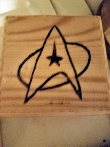 Star Trek box - Odin's Eye Art, Pyrography - woodburning, Odin's Eye Art - Odin's Eye Art