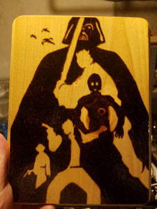 Star Wars Plaque - Odin's Eye Art, Pyrography - woodburning, Odin's Eye Art - Odin's Eye Art