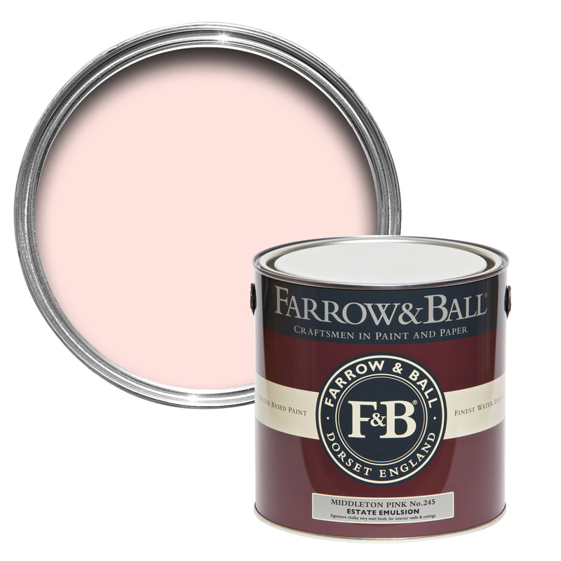 Farrow and Ball Middleton Pink No. 245. #farrowandballpink #farrowandballmiddletonpink #middletonpink #paintcolor
