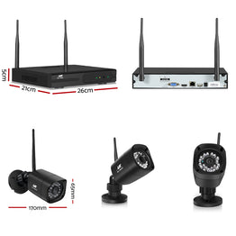 UL-TECH 1080P 8CH NVR Wireless 8 Security Cameras Set