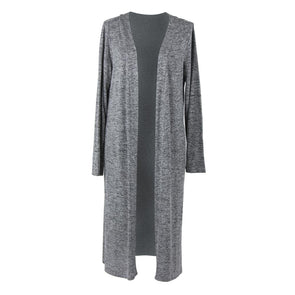 CARDIGAN LONG HEATHERED GRAY