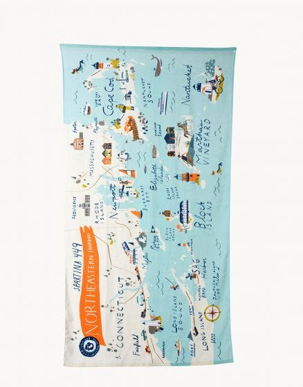 NORTHEASTERN HARBORS BEACH TOWEL