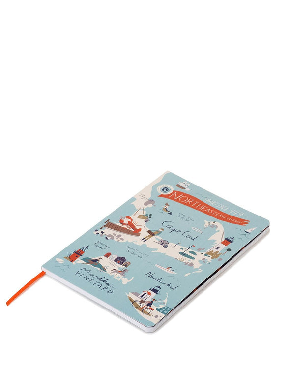 NORTHEASTERN HARBORS 5X7 RULED NOTEBOOK
