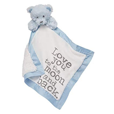 BOY WORD VELOUR WOOBIES - BLUE BEAR