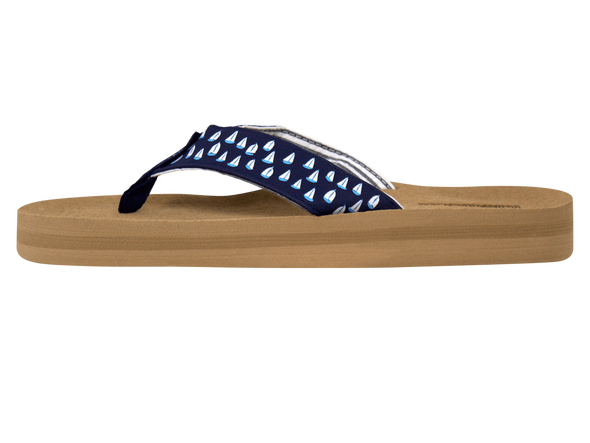 Sandals Navy Sailboats
