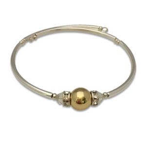 Girl's Cape Cod Ball Bracelet, 14kt Gold Filled Center