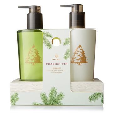 Frasier Fir Sink Set with Ceramic Caddy