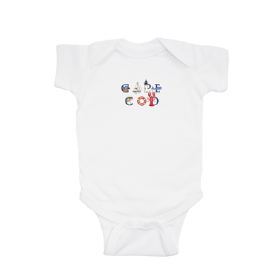 Baby Short Sleeve Cape Cod Onsie 6-12mo