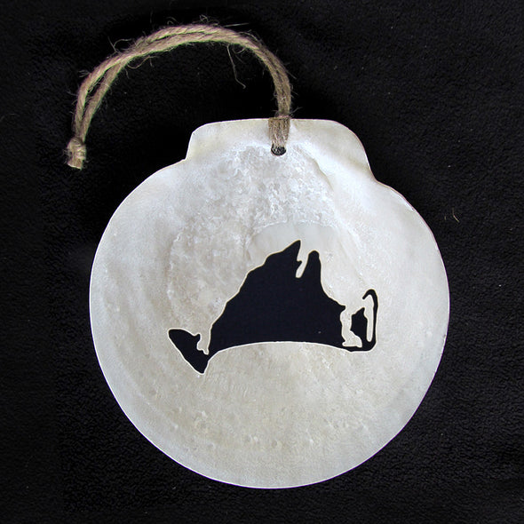 Chatham Scallop Shell Martha's Vineyard Ornament