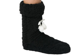 SLIPPER BOOTIE NOELLE - ONE SIZE, BLACK