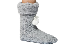 SLIPPER BOOTIE NOELLE - ONE SIZE, GRAY
