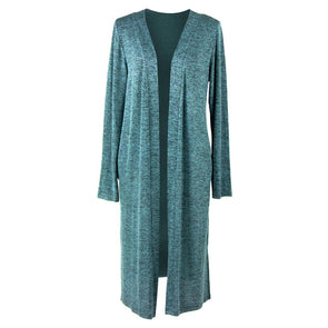 CARDIGAN LONG HEATHERED MINT