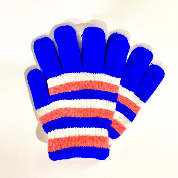 Kids Gloves - Blue/Pink