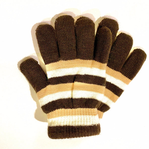 Kids Gloves - Brown/Black