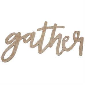 GATHER WORD WALL ART