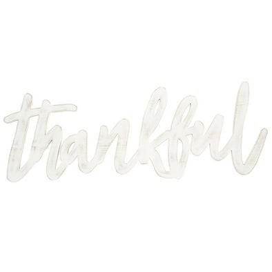 THANKFUL WORD WALL ART