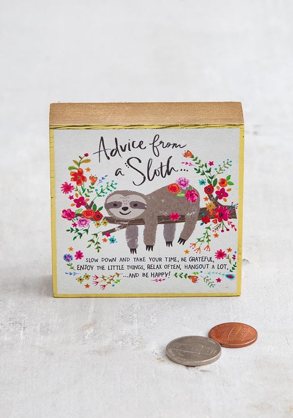 Tiny Block Advice From A Sloth