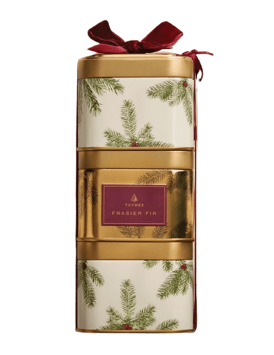 Frasier Fir Stackable Present Tins, 9oz (SOLD SEPARATELY)