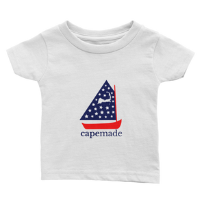 Cape Made Original - Infant Red White and Blue Logo Short Sleeve T-Shirt
