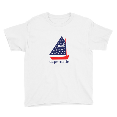Cape Made Original - Youth (age 5+) Red White and Blue Logo Short Sleeve T-Shirt