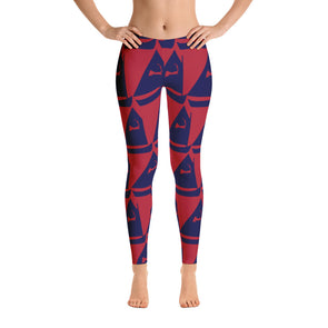 Sail Away Cranberry & Navy Leggings