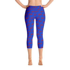 Cape Cod Capri Blue & Red Leggings