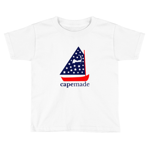 Cape Made Original - Toddler (age 2-6) Red White and Blue Logo Short Sleeve T-Shirt