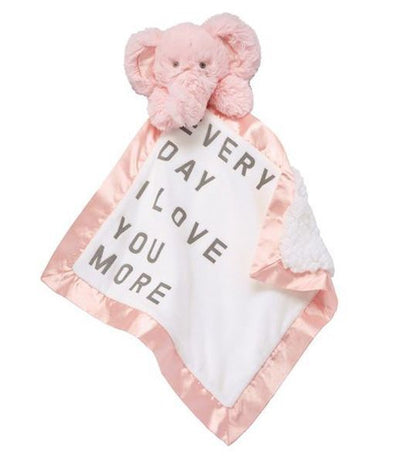 GIRL WORD VELOUR WOOBIES - PINK ELEPHANT