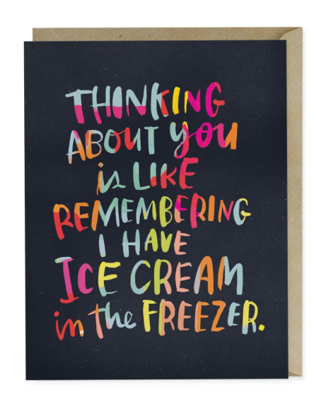ICE CREAM LOVE CARD