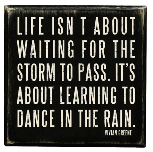 DANCE IN THE RAIN BOX SIGN
