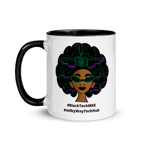 Black Tech Mug with Color Inside