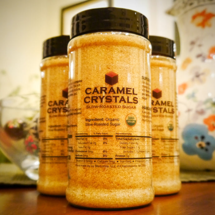 Caramel Crystals Organic Slow-Roasted Sugar 15oz Jar