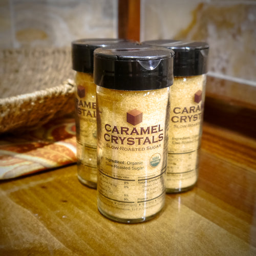 Caramel Crystals Organic Slow-Roasted Sugar 4oz Spice Jar