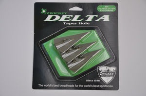 "Zwickey Delta 4 Blade Glue On Broadheads 11/32"", 135 grains"