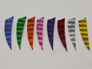 "Archery Past 3"" Barred Feathers, Shield or Parabolic"