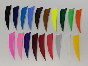 "Archery Past 3"" Solid Colored Feathers, Shield or Parabolic"