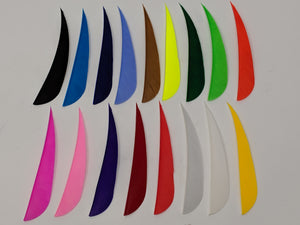 "Archery Past 4"" Solid Colored Feathers, Shield or Parabolic"