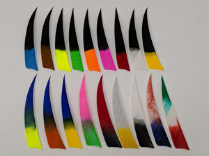 "Archery Past 4"" Multi-Colored Feathers, Shield or Parabolic"