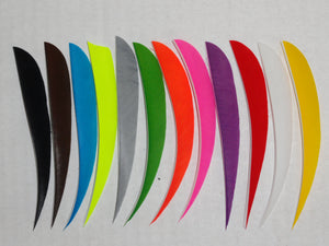 5-inch Parabolic Cut Solid Color Feathers by TrueFlight