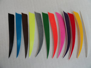 5-inch Shield Cut Solid Color Feathers by TrueFlight