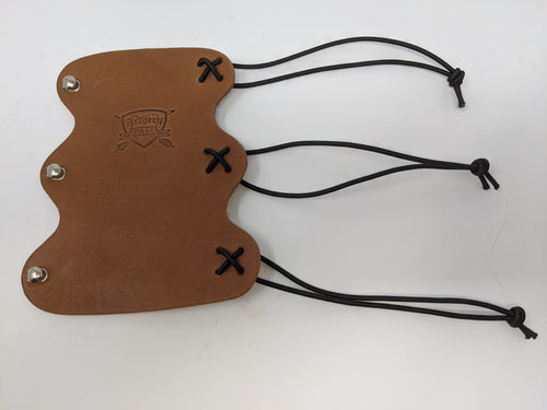 Archery Past Scalloped Leather Armguard