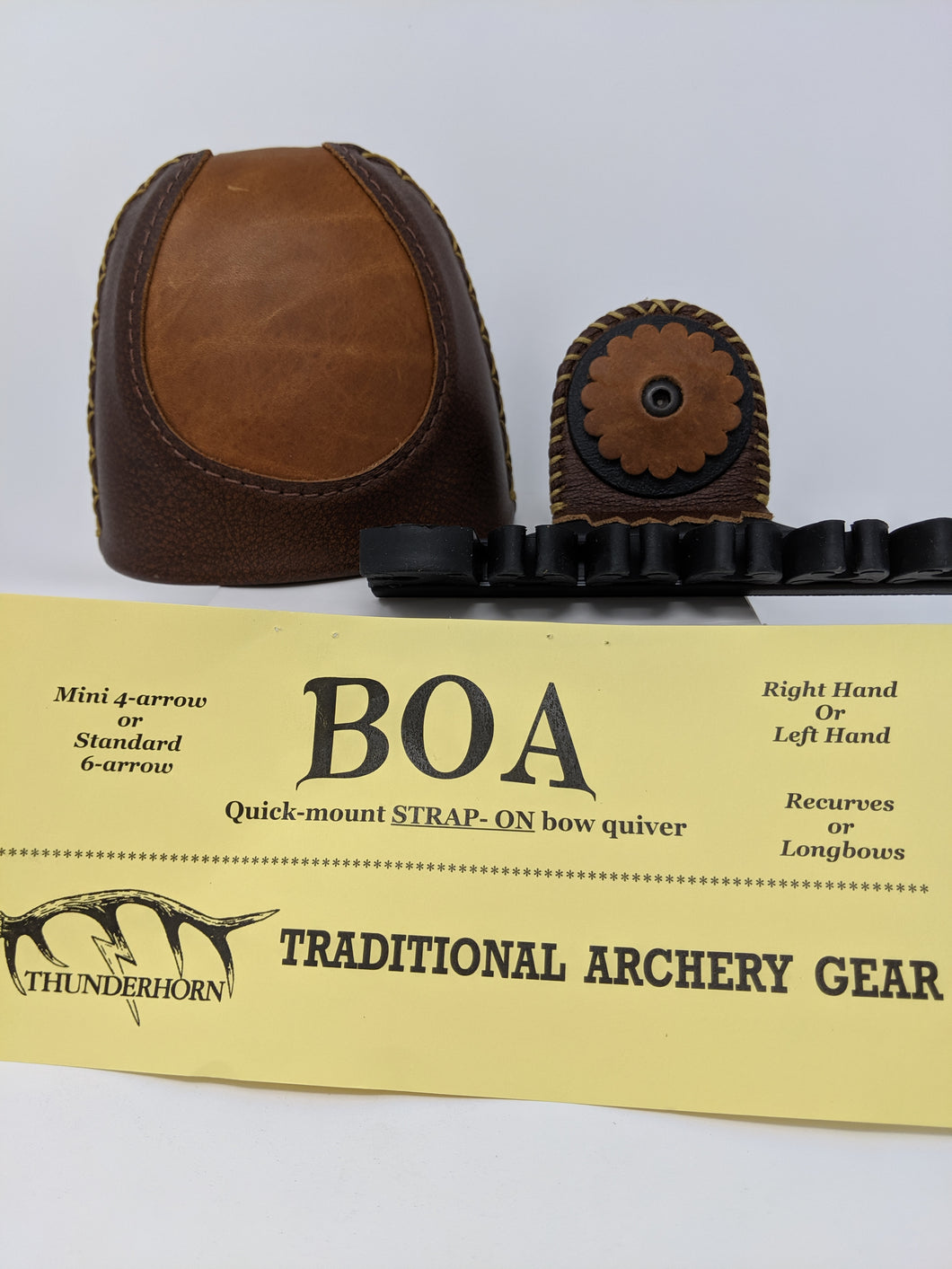 Thunderhorn Contrasting Leather Strap On Bow Quiver CL8