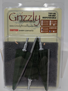 Grizzly 2 Blade, Single Bevel, Screw In Broadheads