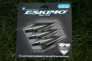 "Zwickey Eskimo Screw In Broadheads 11/32"", 160 grains, 3 pack"