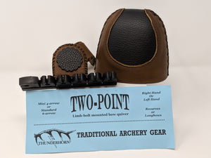 Thunderhorn Two Point Contrasting Leather Bow Quiver LBCL4