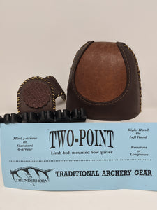 Thunderhorn Two Point Contrasting Leather Bow Quiver LBCL5