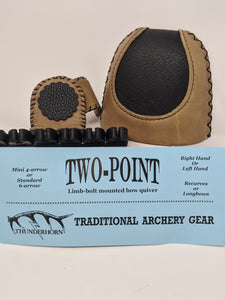 Thunderhorn Two Point Contrasting Leather Bow Quiver LBCL7