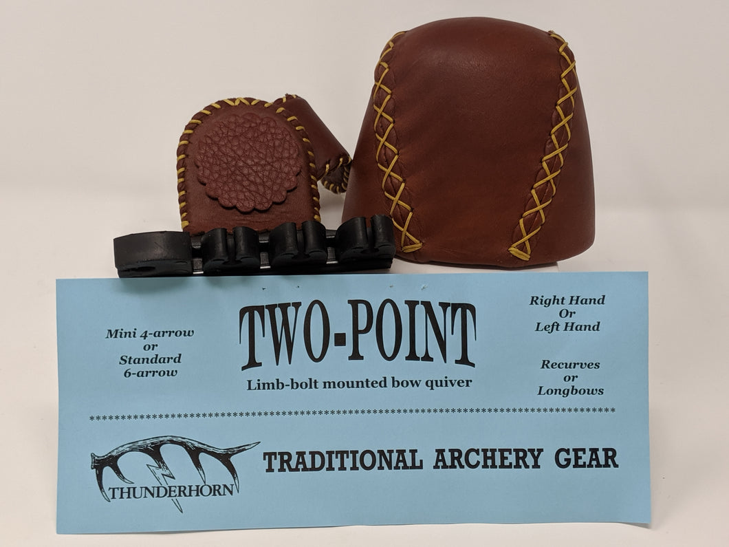 Thunderhorn Two Point Small Fry Contrasting Leather Bow Quiver LBSFL4